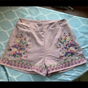 Altar'd State Shorts - Lilac Floral Dress Shorts